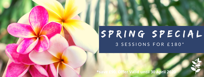 spring special - 3 appointments for £180, save £90
